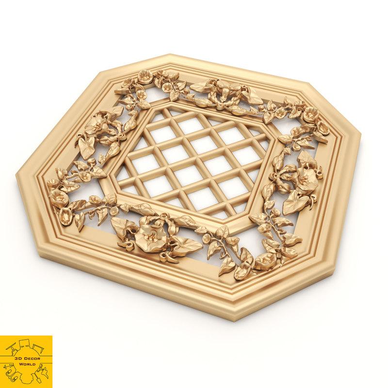 ornament modeled model