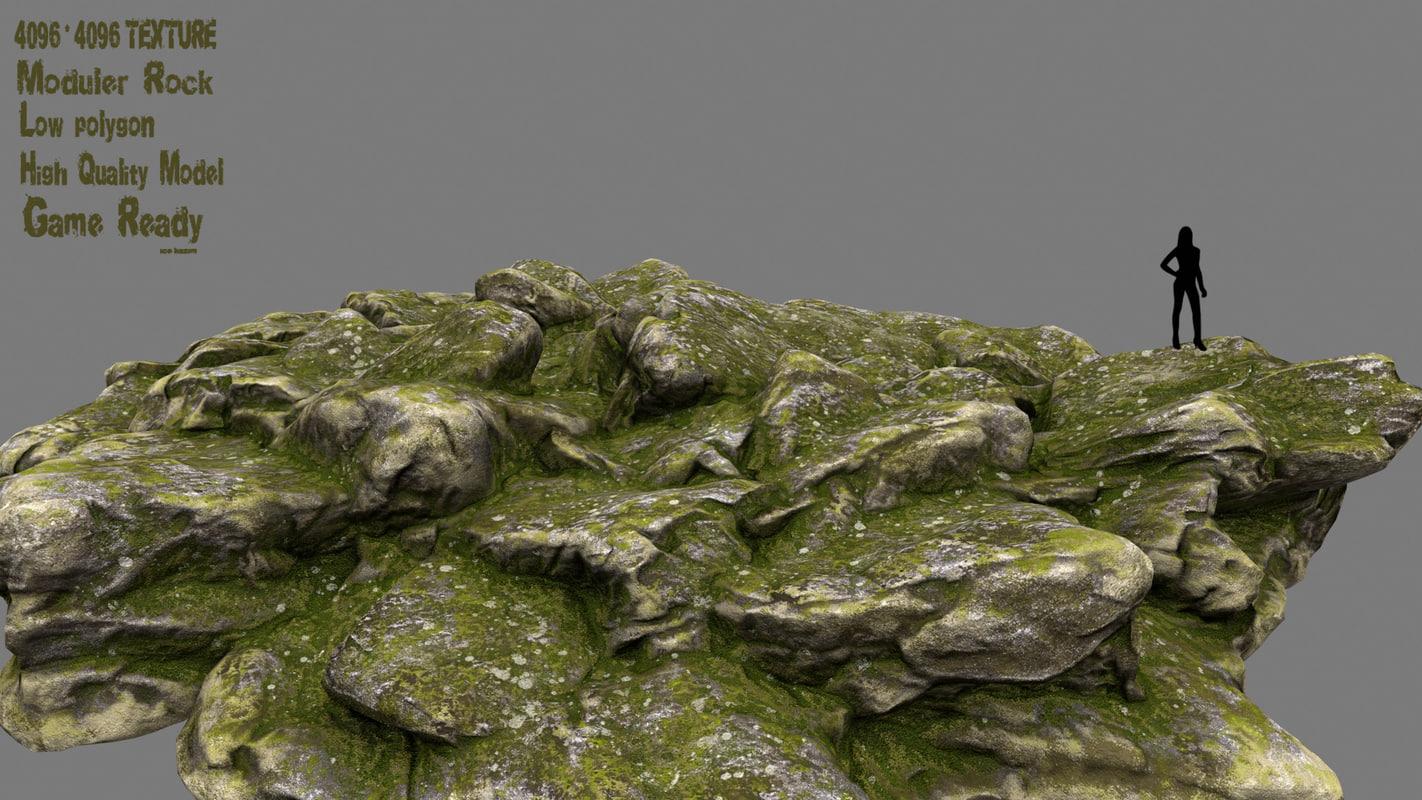 3D rock mossy model