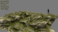 3D rock mossy model
