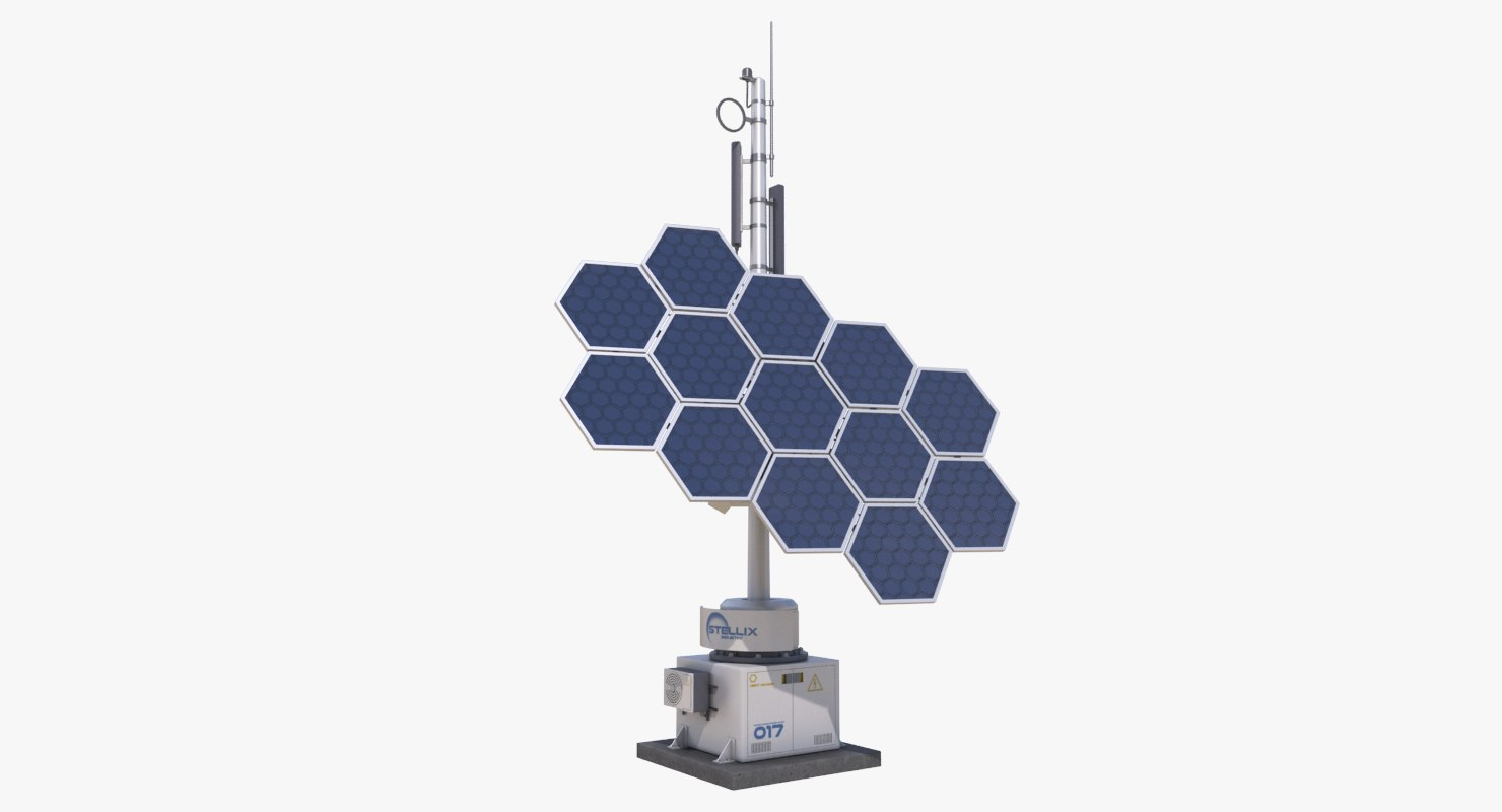 3D model sci-fi tower