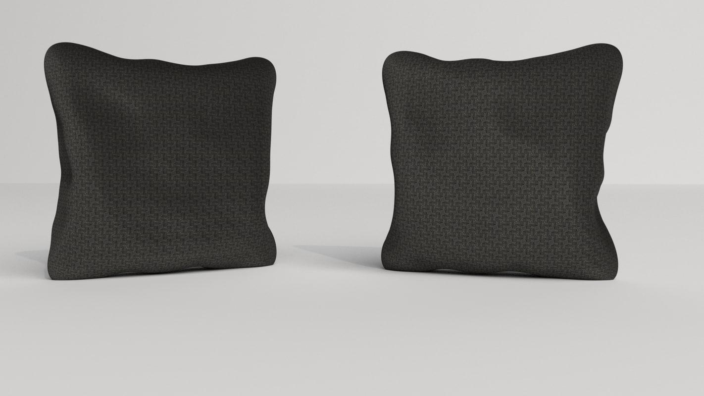 3D model pillows fabric