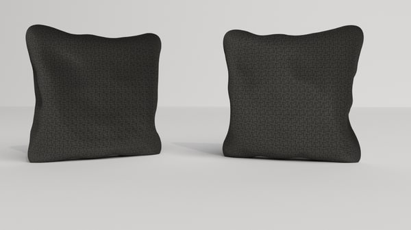 3D model pillows fabric