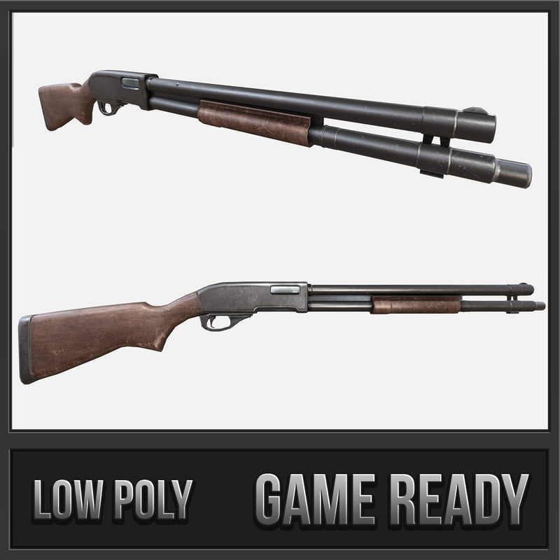 3D remington shotgun