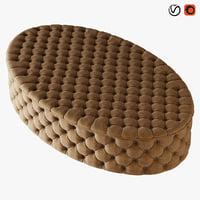 pouf gabrielli 3D model