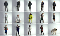 3D scan people man model