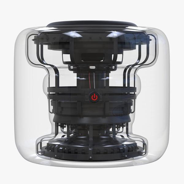 hi-tech speaker advanced 3D model