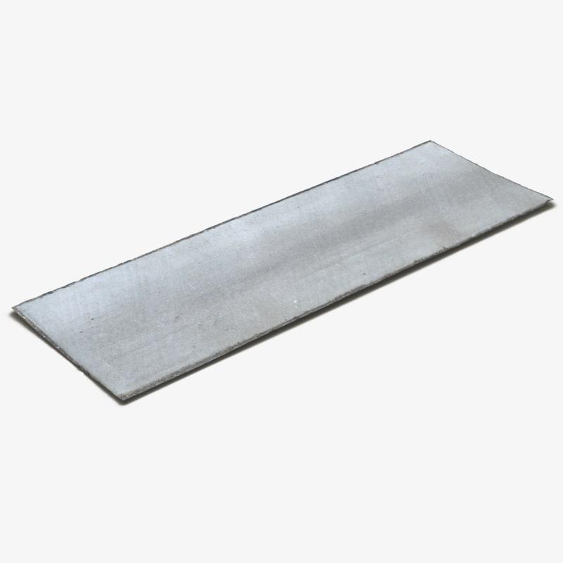 3D concrete drain section