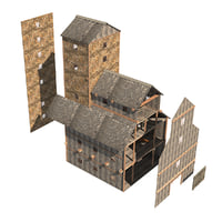 3D old barn model
