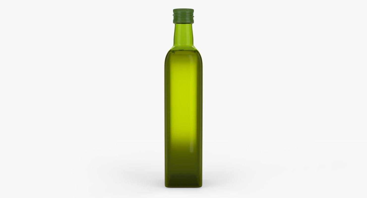 3D green glass bottle 500ml