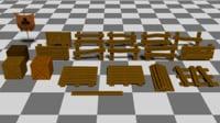 3D ready fence model