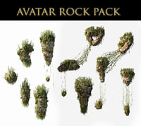 3D avatar rocks pack