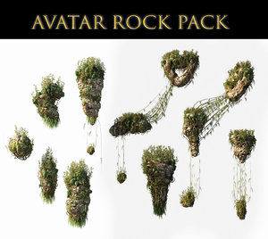 3D avatar rocks pack
