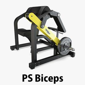 3D load - plate biceps