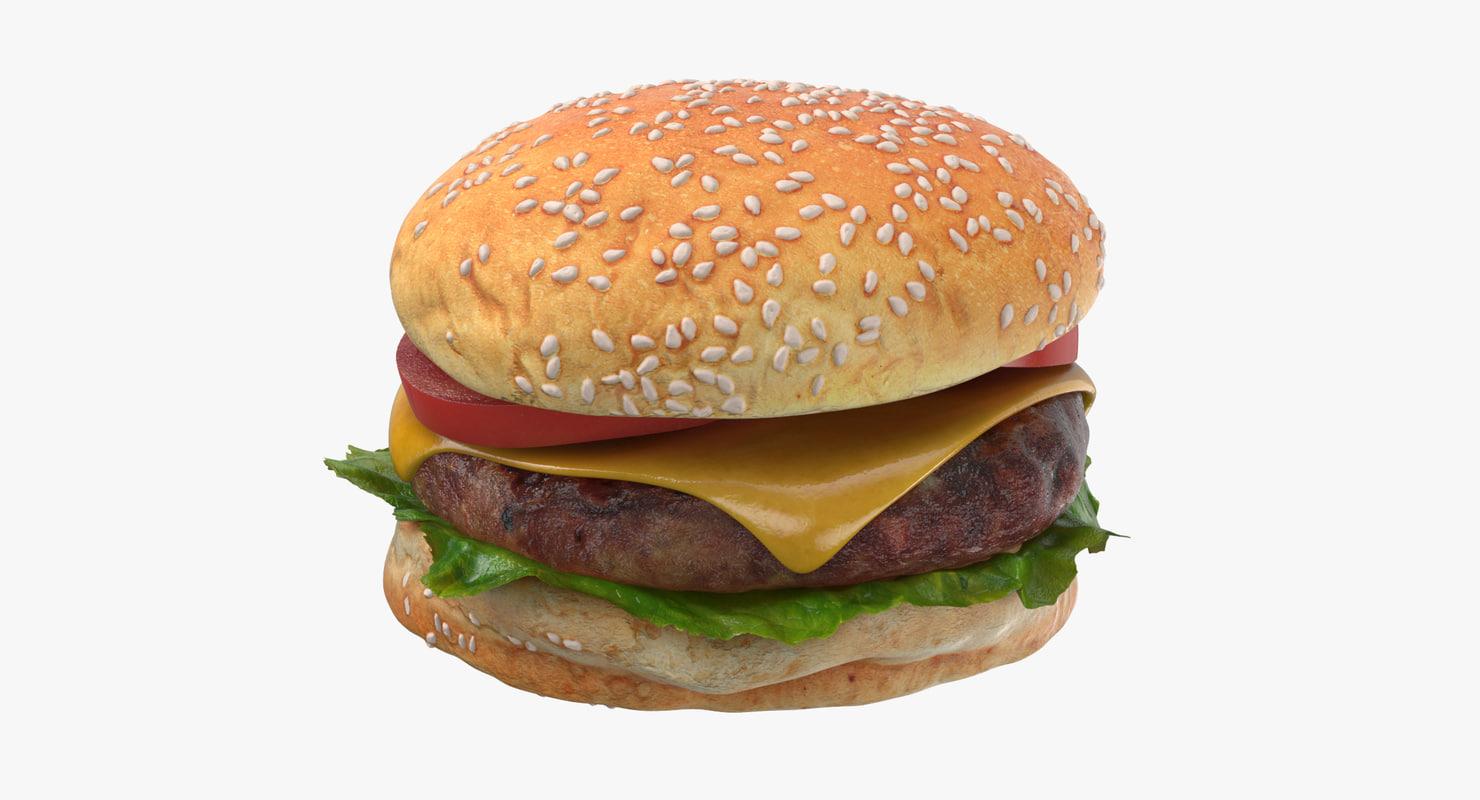 burger hamburger 3D