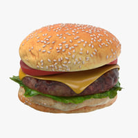 burger hamburger 3D