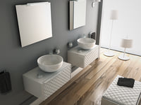 3D bathroom porcelanosa