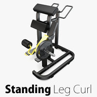 Technogym - Plate Loaded Standing Leg Curl