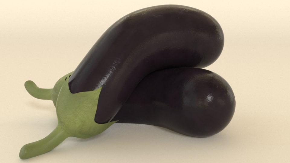 eggplant egg plant 3D model