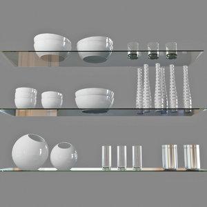 3D dishware dish