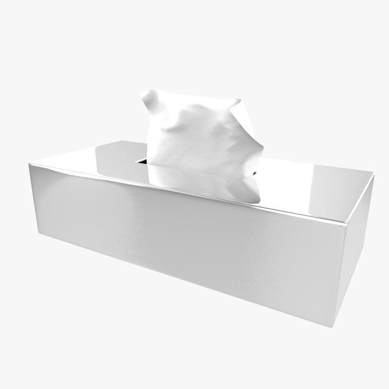 3D handkerchief box
