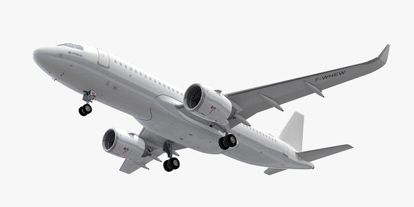 3D model airbus a320neo generic white