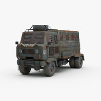 Post Apocalyptic Heavy Truck