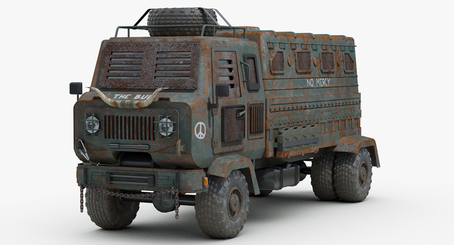 3D post apocalyptic heavy truck