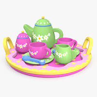 3D model toy tea set