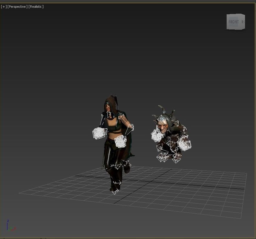 3D goblin runs model