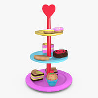 3D wooden sweets toy