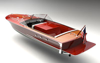 mahogany speed boat