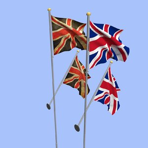 united kingdom uk flag 3D model