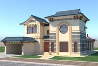 3D house chines model