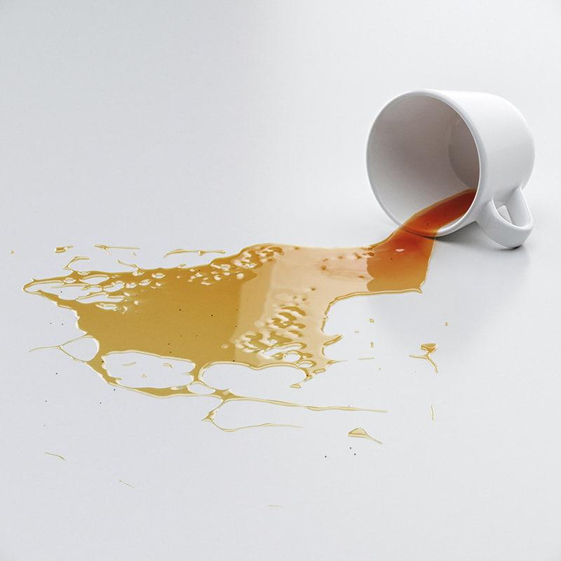 cup spilled tea 3D model