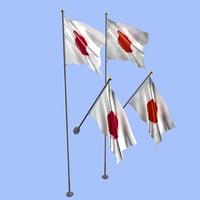 japan flag 3D