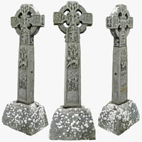 3D celtic stone cross
