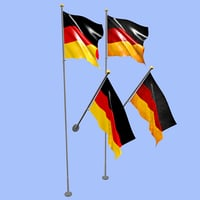 3D germany flag
