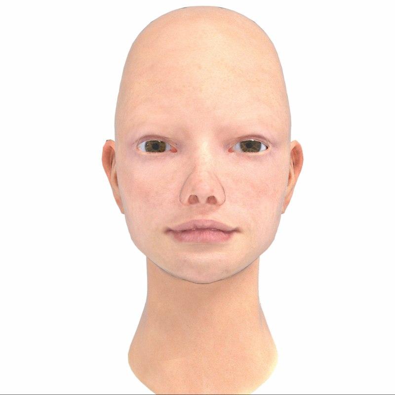 3D base head realistic model