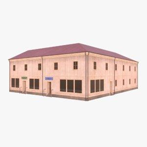 scandinavian building 1 3D model