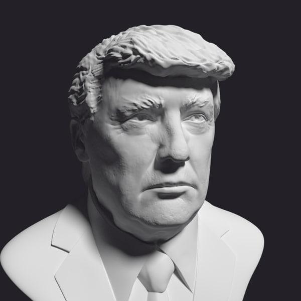 3D president donald trump model