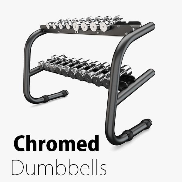 3D model load - weight chromed
