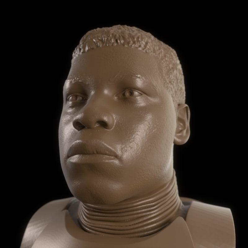 john boyega printable bust model