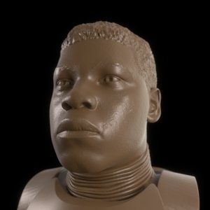 john boyega printable bust model