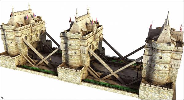 3D tunnel road model