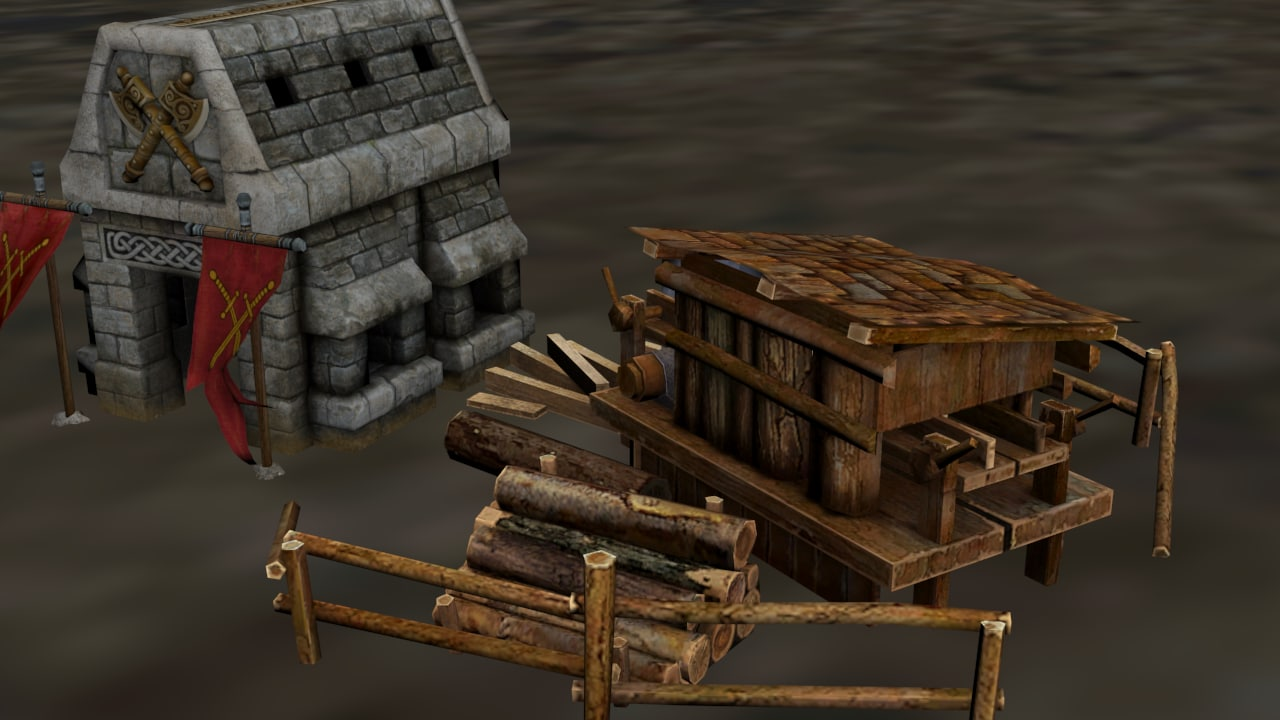 workplace middle lumbermill 3D model