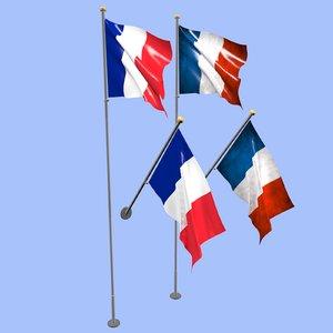 france flag 3D