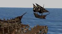 3D ship pier