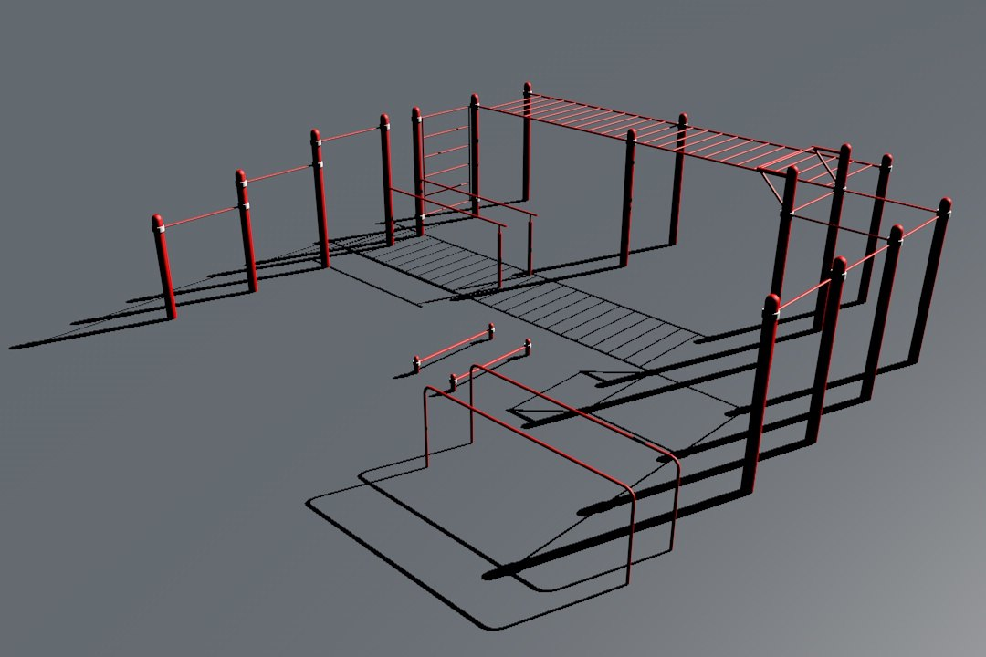 3D model workout place 2