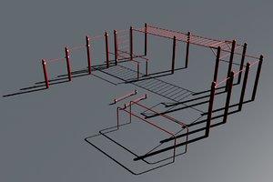 3D model workout place 2