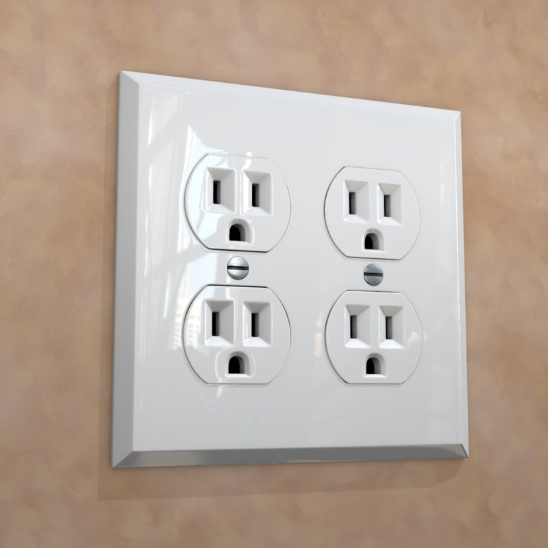 3D power outlet